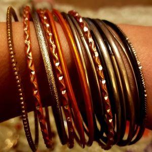 17 Piece Bangle Bracelets